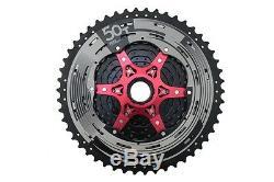 11-50 Sunrace Mx80 11 Speed vtt Cassette Noir / Argent Shimano / Sram