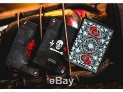 12 Ellusionist Salt & Bone Kartenspielen Deck B9 Etui Tuck Noir Et Rouge Neu