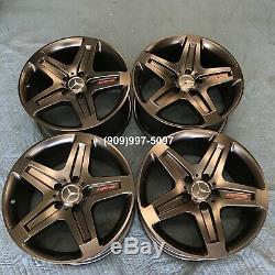 19 Roues Gwagon Jantes Oem Noir Rouge Amg G63 G550 G500 G55 Remorque D'origine