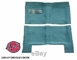 1964-1967 Chevelle Tapis Kit 80/20 Boucle Moulé Surface De Plancher Noir Rouge Bleu Vert