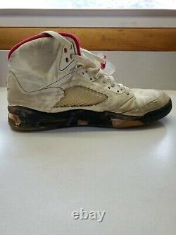 1990 Vtg Original. Nike Air Jordan 5 Chaussures Chicago White Black Red Size 10 1/2