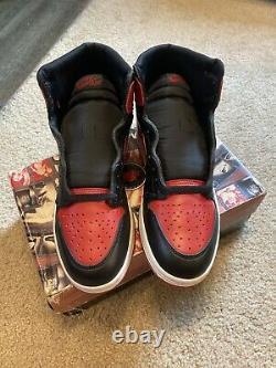 1994 Original Nike Air Jordan 1 Bred Sz 10 Ds 130207 061 Brandnew No Retro Card