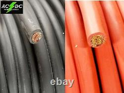 2 Gauge Awg Soudage Lead & Car Cable Cable Copper Wire Made In USA Solar