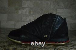 2008 Nike Air Jordan 16 Rétro Cdp Black Red Countdown Pack Taille 10.5 322723-061