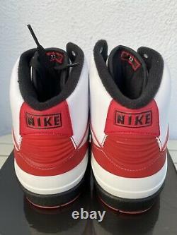 2010 Nike Air Jordan II 2 Retro Qf Chicago Blanc / Noir / Rouge 395709 101 Taille 11
