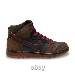 2011 Nike Sb Dunk High Brooklyn Projects Slayer Size 9 Noir / Rouge 313171 013