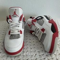 2012 Mens Taille 11 Nike Air Jordan Retro 4 IV Feu Rouge 308497-110 Blanc Rouge Blk