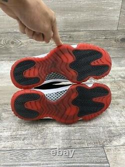 2012 Nike Air Jordan Retro 11 XI Bred Noir Rouge Blanc Taille 8 378037-010 Playoff