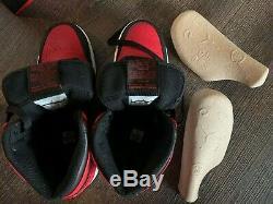2013 Nike Air Jordan Retro 1 Un Haut Og Bred Noir Blanc Rouge 6.5y 8 Vnds