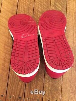 2013 Nike Air Jordan Retro 1 Un Haut Og Bred Noir Rouge Blanc 555088-023 Sz 11.5