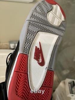 2019 Air Jordan 4 Retro Bred Noir/rouge Homme Taille 9,5 308497-060