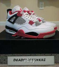 2020 Nike Air Jordan 4 Retro Fire Red White Dc7770 160 Gs & Men's Sizes