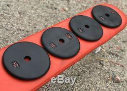 (4) 10 Lb Standard 1 Cap Cru Poids Plaques 40lb Total Custom Black & Red