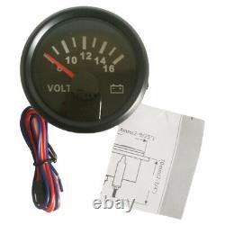 6 Gauge Set 200mph Speedomètre Tachymètre Carburant Temp Volt Huile Rouge Led USA Stock
