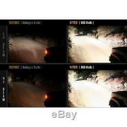 7 Led Hid Ambre Halo Anneau Angel Eyes Noir Phare 6k Lampe Ampoules Paire