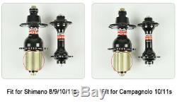 700c Carbone Standard Roues 88mm Profondeur Route Carbone Roues Jantes Clincher Tubulaires