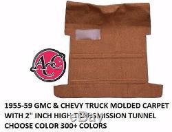 Acc 1955-1959 Chevy Truck Gmc Moquette Kit 80/20 Boucle Couleur Noir Rouge Choisissez