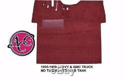 Acc 1955-1959 Ensemble De Tapis De Plancher Pour Camion Chevrolet Gmc, 80/20, Boucle, Choix De Couleur, Noir Rouge