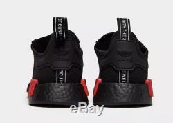 Adidas Baskets Hommes Nmd R1 Ripstop Core Noir Rouge Toutes Les Tailles