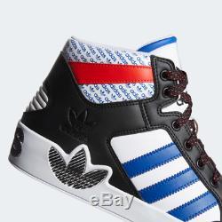 Adidas Hardcourt Entraîneurs Des Hommes Blanc Noir Rouge Bleu Salut Top Chaussures En Stock