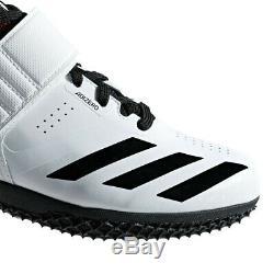 Adidas Hommes Adizero Saut En Hauteur Chaussures Blanc Rouge Noir Baskets Chaussures De Sport Respirant