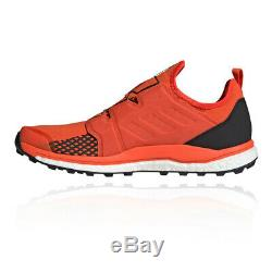 Adidas Hommes Terrex Agravic Boa Trail Running Chaussures Baskets Chaussures Noir Rouge