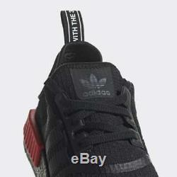 Adidas Nmd R1 Noir Rouge Bred Boost Hommes Baskets Baskets Chaussures 6 12 39 47