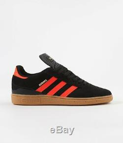Adidas Originals Busenitz Hommes Noir Rouge Gum Chaussures Sneaker Sport Uk Entraîneur 6-12