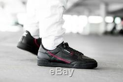 Adidas Originals Continental 80 Noir Rouge Hommes Chaussures Baskets Chaussures 6 7 8 9 10 11 12 13