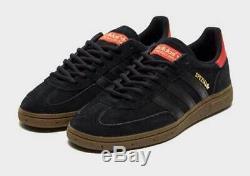 Adidas Originals Handball Chaussures Spezial Noir / Rouge Suede Hommes Formateurs
