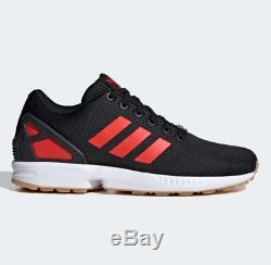 Adidas Originals Hommes Zx Flux Lightweight Formateurs Noir / Rouge Toutes Les Tailles