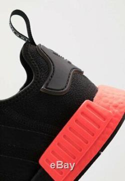 Adidas Originals Nmd R1 - Baskets D'entraîneur De Chaussures - Noir - Rouge Uk 6-12