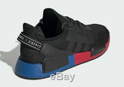Adidas Originals Nmd R1 V2 Hommes Noir-rouge-bleu Formateurs Toutes Les Tailles Stock Limite