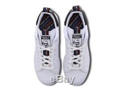 Adidas Stan Smith Blanc-noir-rouge Baskets Homme Toutes Les Tailles Stock Limite