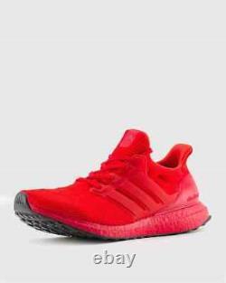 Adidas Ultraboost Dna Chaussures De Course Scarlet Rouge Noir Fy7123 Taille 8-13 Nouveau