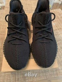 Adidas Yeezy Boost 350 Black & Red Bred Taille 11 Authentique Dead Stock Neuf