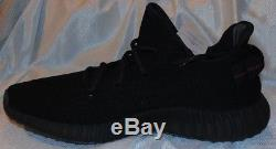 Adidas Yeezy Boost 350 Dead Stock V2 Noyau Noir Rouge Nid Point Taille 10.5 Avec Tags
