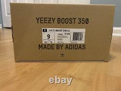 Adidas Yeezy Boost 350 V2 Core Black Red Bred Taille 9 À La Main Prêt À Expédier