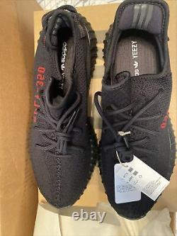 Adidas Yeezy Boost 350 V2 Noir Red Bred Taille 14