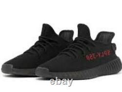 Adidas Yeezy Boost 350 V2 Noir Rouge Bred Taille 10.5 (ordre Confirmé)