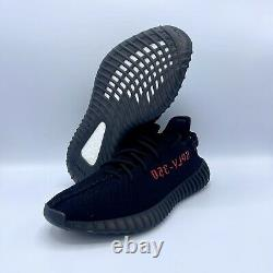 Adidas Yeezy Boost 350 V2 Noir Rouge Cp9652 Hommes Taille