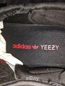 Adidas Yeezy Boost 350 V2 Race Taille 8 Noir Rouge Cp9652 Stock X Vérifié