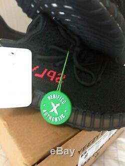 Adidas Yeezy Boost 350 V2 Taille Bred 8 Noir Rouge Cp9652 Stock X Vérifié