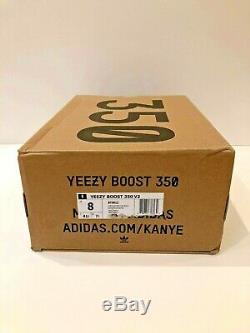 Adidas Yeezy Boost 350 V2 Uk 7.5 Red Stripe Noyau Noir Neuf En Boite