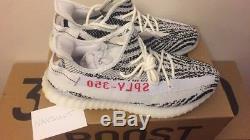 Adidas Yeezy Boost V2 Zebra Uk 10 Blanc / Noir / Rouge Stock Mort Avec Étiquettes