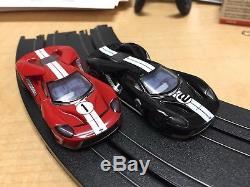 Afx Ford Gt Noir # 2. Et Rouge N ° 1 Avec Roues De Série Mega G Plus Chasis