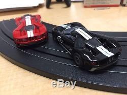 Afx Ford Gt Noir # 2. & Rouge N ° 1 Avec Roues De Série Mega G Plus Chasis. Deux Voitures