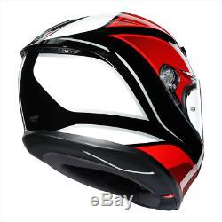 Agv K6 Hyphen Ms Noir / Rouge / Blanc Uk 2020 Stock Nouveau