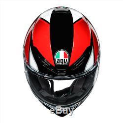 Agv K6 Hyphen XL Noir / Rouge / Blanc Uk 2020 Stock Nouveau