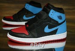 Air Jordan 1 High Og Nc À Chi Black Red Blue Cd0461-046 Chaussures Pour Femmes Nouveau